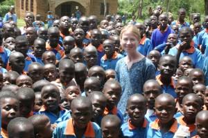 April at Kenya school