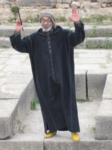 morocco master storyteller at Volubilis